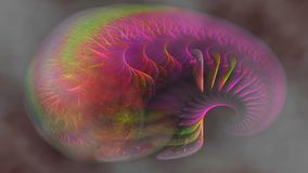 Alien brain, widescreen. Widescreen fractal representation of alien brain in light airy colours, just like the real thing stock illustration