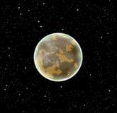 Alien brown planet Stock Photos
