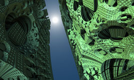Alien Building Fractal Royalty Free Stock Image