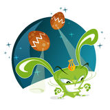 Alien bunny vector. Alien bunny ready to invade us.  based illustration Royalty Free Stock Photos