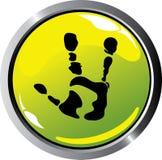 Alien button Royalty Free Stock Photos