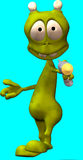 alien cartoon 皇族释放例证