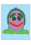 Alien Cartoon. Royalty Free Stock Photo