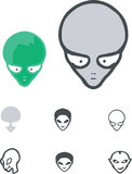 Alien cartoons vector set Stock Image