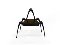Alien Chair. Modern alien inspired chair on a white background Royalty Free Stock Image