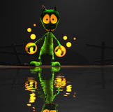 Alien character. Quality 3d render of magic alien Stock Image