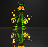 Alien character. Quality 3d render of magic alien Royalty Free Stock Photo