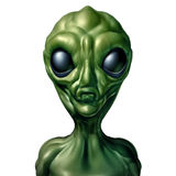 Alien Character Isolated Royalty Free Stock Photo