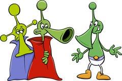 Alien characters cartoon illustration Royalty Free Stock Photos