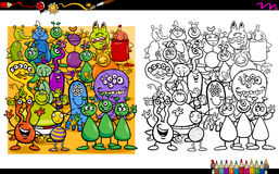 Alien characters coloring book Royalty Free Stock Photography