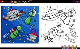Alien characters coloring page Stock Images