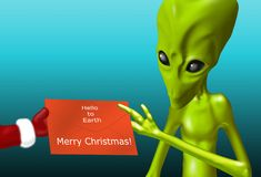 Alien Christmas Stock Image
