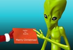 Alien Christmas Stock Image