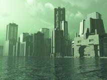 Alien City royalty free stock photo