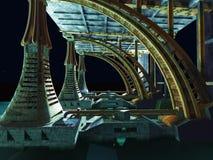 Alien City Royalty Free Stock Photos