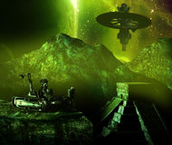 Alien civilizations Stock Photo
