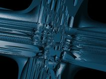 Alien construction. Digital fractal image .Can be used as texture , design element ,background ,wallpaper for those who like SCI_FI art royalty free illustration