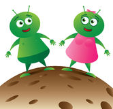 Alien Couple on Planet_01 Stock Photo