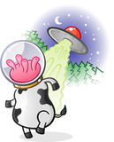Alien Cow Cartoon Character Royalty Free Stock Photos