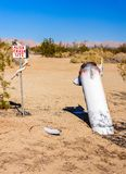 Alien Crash Site. Display in the Sonoran Desert, Slab City, California Stock Photos