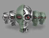 Alien cyborg 5 Stock Photography