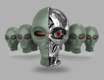 Alien cyborg 6 Royalty Free Stock Images