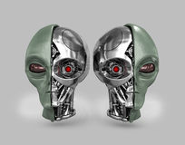 Alien cyborg 2 Royalty Free Stock Image