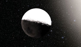Alien Desert Exo Planet. Far away in deep space Royalty Free Stock Photography