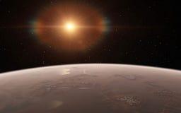 Alien Desert Exo Planet. Far away in deep space Royalty Free Stock Photos