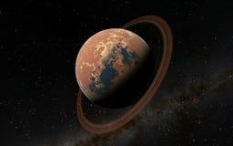 Alien Desert Exo Planet Stock Photography