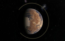 Alien Desert Exo Planet. Far away in deep space Royalty Free Stock Images