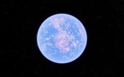 Alien Desert Exo Planet. Far away in deep space Stock Photography