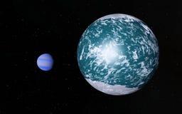 Alien Desert Exo Planet. Far away in deep space Stock Image