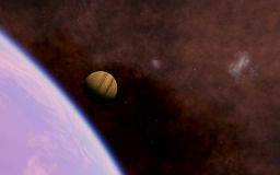 Alien Desert Exo Planet Stock Photos