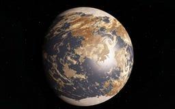 Alien Desert Exo Planet. Far away in deep space Stock Images