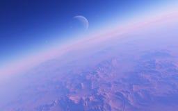 Alien Desert Exo Planet Royalty Free Stock Photography