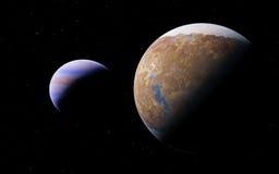 Alien Desert Exo Planet Royalty Free Stock Photo