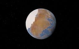 Alien Desert Exo Planet Royalty Free Stock Photos