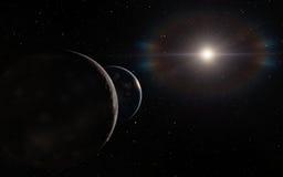 Alien Desert Exo Planet Stock Photo