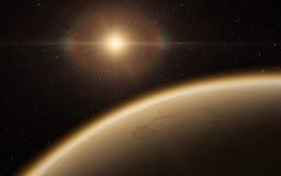 Alien Desert Exo Planet. Far away in deep space Royalty Free Stock Photo