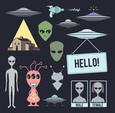 Alien design elements Stock Images