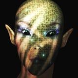 Alien. Digital Illustration of an Alien Stock Images