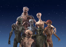 Alien Diversity: Group Portrait Stock Photo