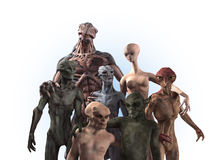 Alien Diversity: Group Portrait Stock Photography