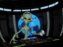 Alien DJ Stock Image