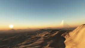 Alien Dusk. A distant planet landscape at dusk royalty free stock photos