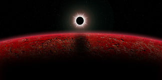 Alien eclipse. Royalty Free Stock Photos