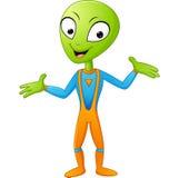 alien embarrased toon Στοκ Εικόνες