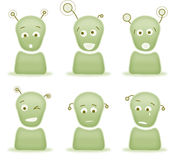Alien emotion characters Royalty Free Stock Photo