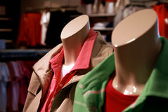Retail store. Clothes displayed in a retail store Royalty Free Stock Photo